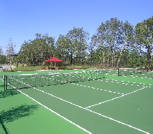 Emerald Island Tennis courts...